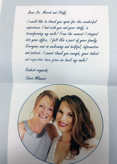 cleveland dentist dr marsh testimonial letter